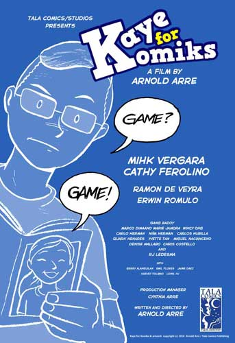 Kaye for Komiks short film Arnold Arre