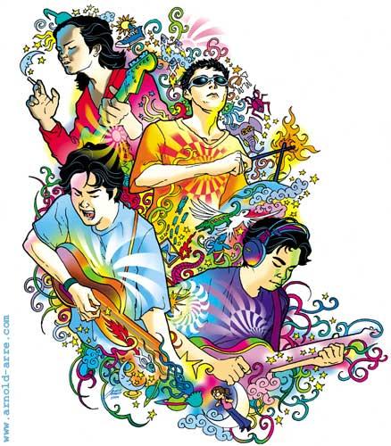 Eraserheads Anthology illustration